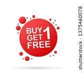 buy 1 get 1 free  sale tag ... | Shutterstock .eps vector #1375460078