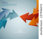 info graphic arrows. detailed   ... | Shutterstock .eps vector #137546672