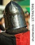 knight in helmet rear view   Shutterstock . vector #1375467098