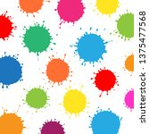 isolated multicolor water drops ... | Shutterstock .eps vector #1375477568