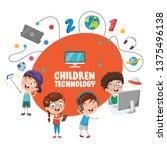 vector illustration of children ... | Shutterstock .eps vector #1375496138