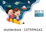 vector illustration of children ... | Shutterstock .eps vector #1375496162