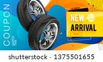 tire shop coupon  discount.... | Shutterstock .eps vector #1375501655