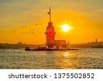 maiden's tower in istanbul ... | Shutterstock . vector #1375502852