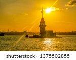 maiden's tower in istanbul ... | Shutterstock . vector #1375502855