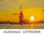 maiden's tower in istanbul ... | Shutterstock . vector #1375502858