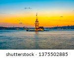 maiden's tower in istanbul ... | Shutterstock . vector #1375502885