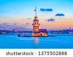 maiden's tower in istanbul ... | Shutterstock . vector #1375502888