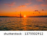 maiden's tower in istanbul ... | Shutterstock . vector #1375502912