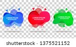 set of liquid label template... | Shutterstock .eps vector #1375521152