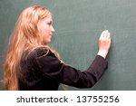 Young Beauty Schoolgirl Write...