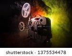 old vintage movie projector on...   Shutterstock . vector #1375534478