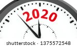 Black Clock With 2020...