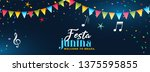 festa junina party celebration... | Shutterstock .eps vector #1375595855