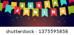 festa junina holiday flags... | Shutterstock .eps vector #1375595858