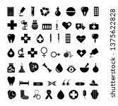 medical icons set. vector black ... | Shutterstock .eps vector #1375622828