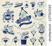 retro vintage style restaurant... | Shutterstock .eps vector #137563265