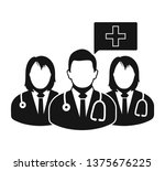 medical team icon. flat style... | Shutterstock .eps vector #1375676225