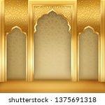 ramadan kareem or eid al fitr ... | Shutterstock .eps vector #1375691318