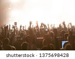 concert  silhouettes of happy... | Shutterstock . vector #1375698428