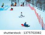 gala yuzawa snow resort  yuzawa ... | Shutterstock . vector #1375702082