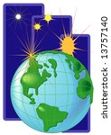 world and star | Shutterstock . vector #13757140