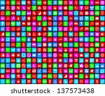 colorful background with... | Shutterstock . vector #137573438