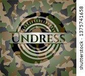 undress written on a camouflage ...   Shutterstock .eps vector #1375741658