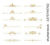elegant damask dividers.... | Shutterstock .eps vector #1375745702