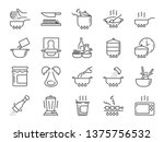 cooking line icon set. included ... | Shutterstock .eps vector #1375756532