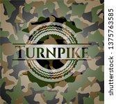 turnpike on camo texture   Shutterstock .eps vector #1375763585