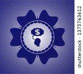 thinking in money icon inside...   Shutterstock .eps vector #1375763612