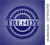 trendy with denim texture   Shutterstock .eps vector #1375763705