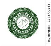 green pyramids icon inside...   Shutterstock .eps vector #1375777955