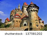 Small photo of most beautiful castles of Europe series - Kreuzenstein castle in Austria