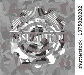 assumption on grey camouflage...   Shutterstock .eps vector #1375820282
