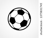 Soccer Ball Icon. Flat Vector...