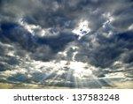 """the Sun\'s Rays Breaking..."