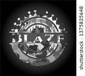 blaze on grey camouflaged...   Shutterstock .eps vector #1375835648