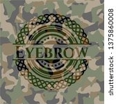 eyebrow on camouflaged pattern   Shutterstock .eps vector #1375860008