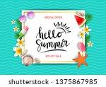 summer sale template banner.... | Shutterstock .eps vector #1375867985