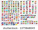 all national waving flags from... | Shutterstock .eps vector #1375868045