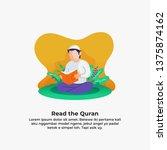 Muslim Man Reading Quran The...