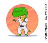 cartoon t rex dinosaur with... | Shutterstock .eps vector #1375911215