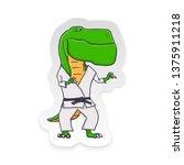 cartoon t rex dinosaur with... | Shutterstock .eps vector #1375911218