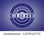 client with jean texture   Shutterstock .eps vector #1375912772