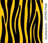 zebra or tiger stripes seamless ...   Shutterstock .eps vector #1375917968