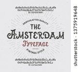 """ the amsterdam"". vintage... | Shutterstock .eps vector #1375919648"
