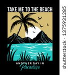 take me to the beach text with... | Shutterstock .eps vector #1375931285
