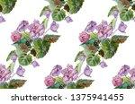 watercolor seamless pattern of...   Shutterstock . vector #1375941455